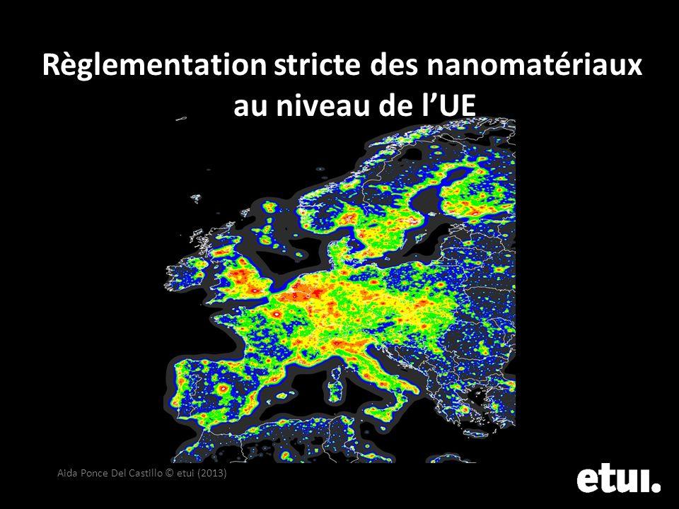 Règlementation stricte des nanomatériaux au niveau de lUE Aida Ponce Del Castillo © etui (2013)