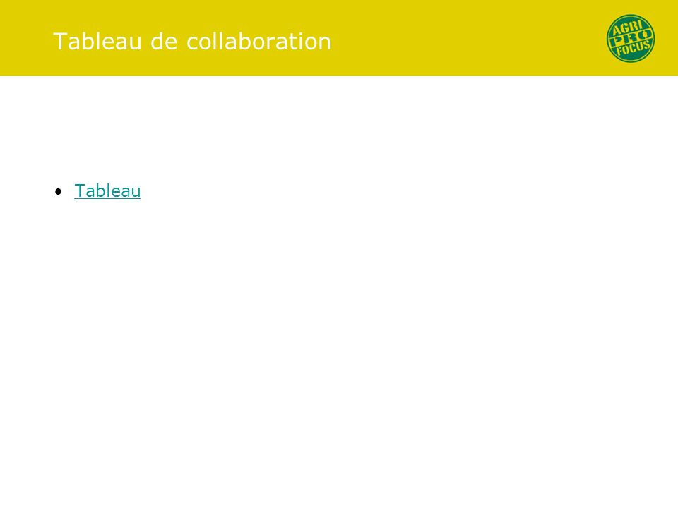 Tableau de collaboration Tableau