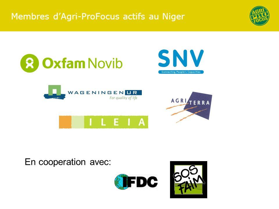 Membres dAgri-ProFocus actifs au Niger En cooperation avec: