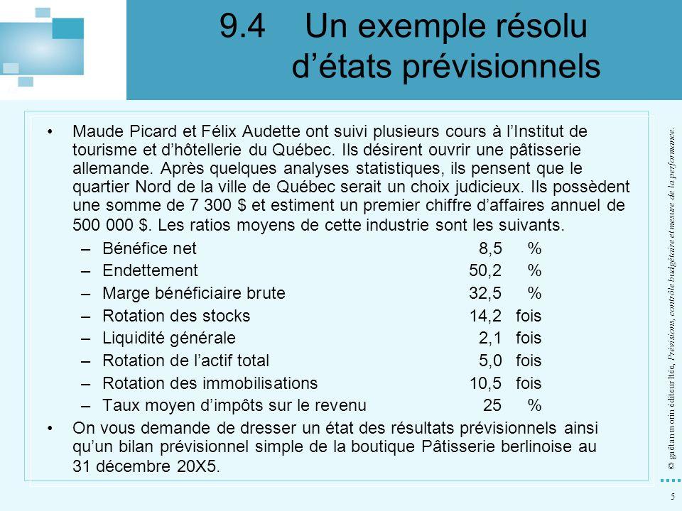5 © gaëtan morin éditeur ltée, Prévisions, contrôle budgétaire et mesure de la performance. Maude Picard et Félix Audette ont suivi plusieurs cours à