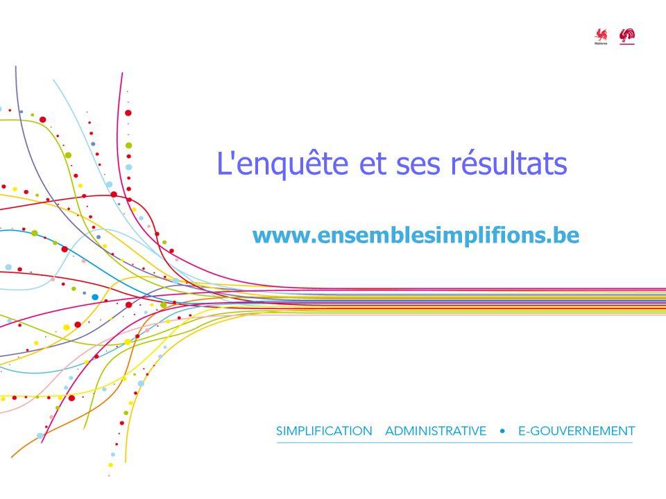 L enquête et ses résultats www.ensemblesimplifions.be