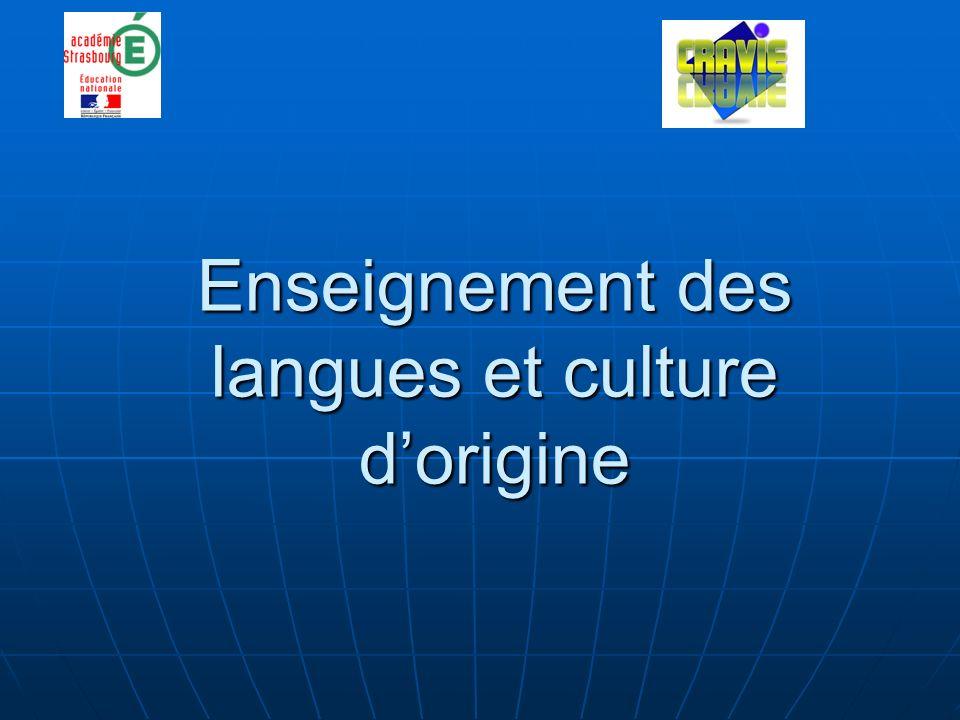 Enseignement des langues et culture dorigine
