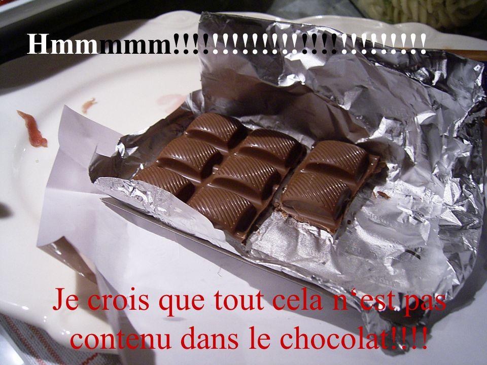 Hmmmmm!!!!!!!!!!!!!!!!!!!!!!!!!! Je crois que tout cela nest pas contenu dans le chocolat!!!!
