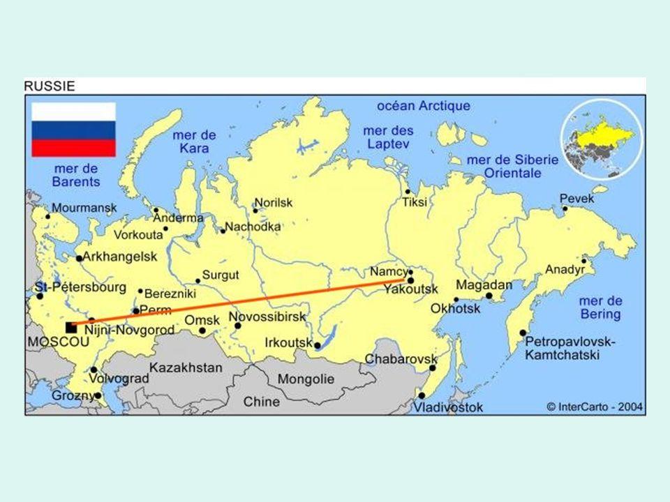 Cette autoroute fédérale russe va de Moscou à Yakoutsk en Sibérie.