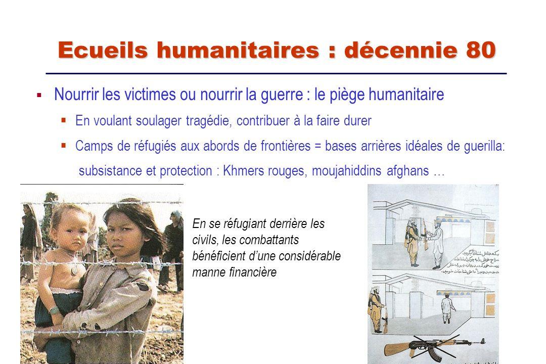 Nourrir les victimes ou nourrir la guerre : le piège humanitaire En voulant soulager tragédie, contribuer à la faire durer Camps de réfugiés aux abord