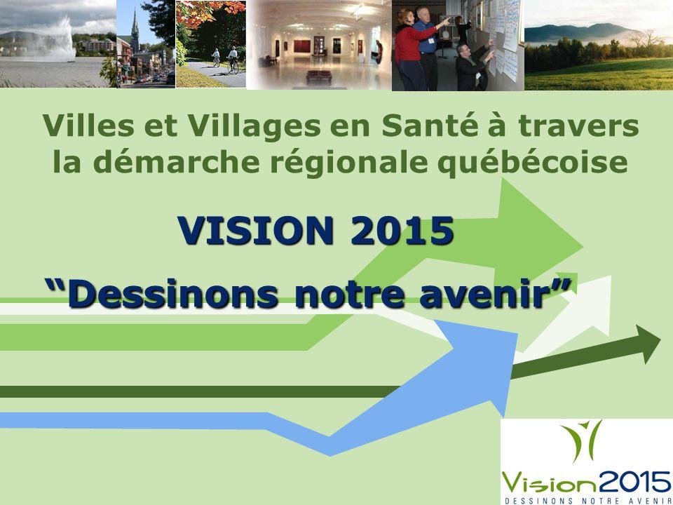 VISION 2015 Dessinons notre avenir Villes et Villages en Santé à travers la démarche régionale québécoise VISION 2015 Dessinons notre avenir