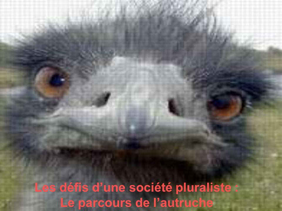 Les défis dune société pluraliste : Le parcours de lautruche