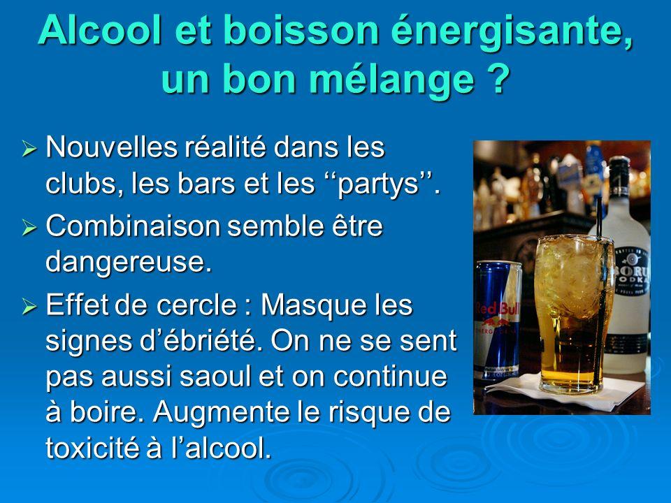 Alcool et boisson énergisante, un bon mélange ? Nouvelles réalité dans les clubs, les bars et les partys. Nouvelles réalité dans les clubs, les bars e