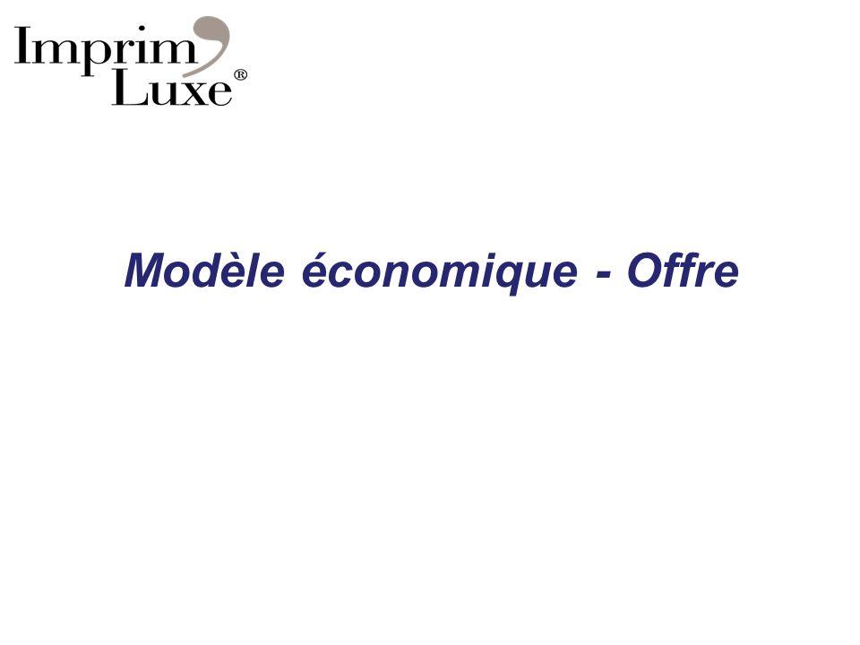 Modèle économique - Offre