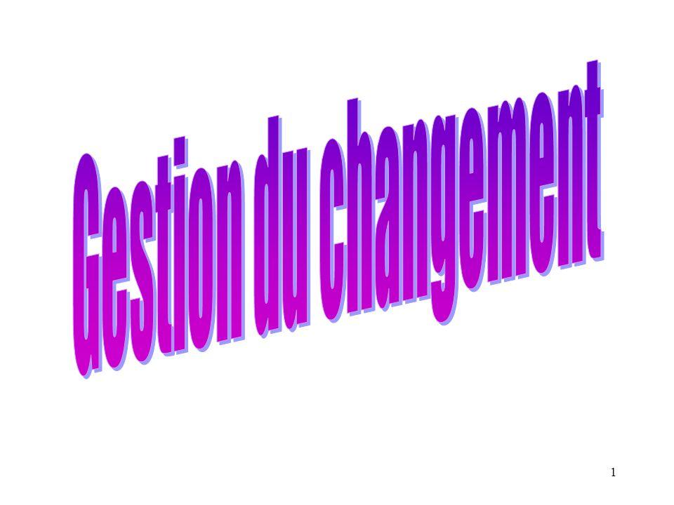 72 Type de niveau 1: Ce changement est l adaptation du système, son développement, sa mise à jour sans discontinuité avec la situation actuelle.