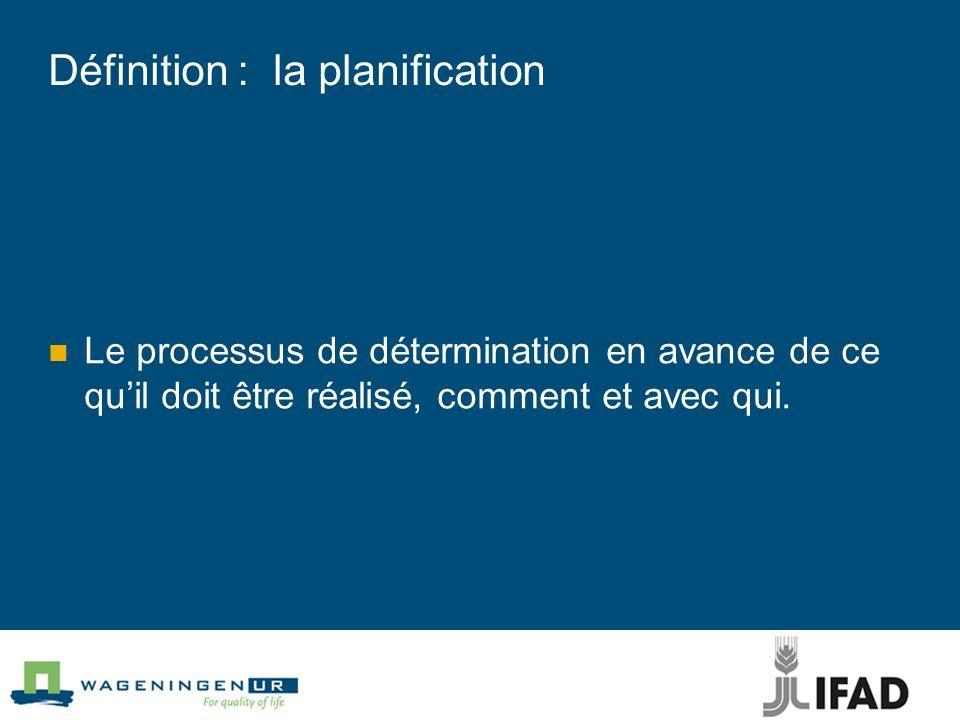 Limportance de la planification participative Accroître limpact, la pertinence, la durabilité, lefficacité et lefficience du projet Répondre aux demandes croissantes (tendances, processus de développement hétérogène)