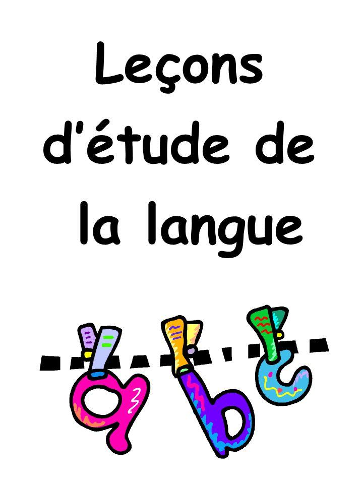 Leçons détude de la langue