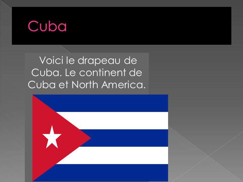 Voici le drapeau de Cuba. Le continent de Cuba et North America.