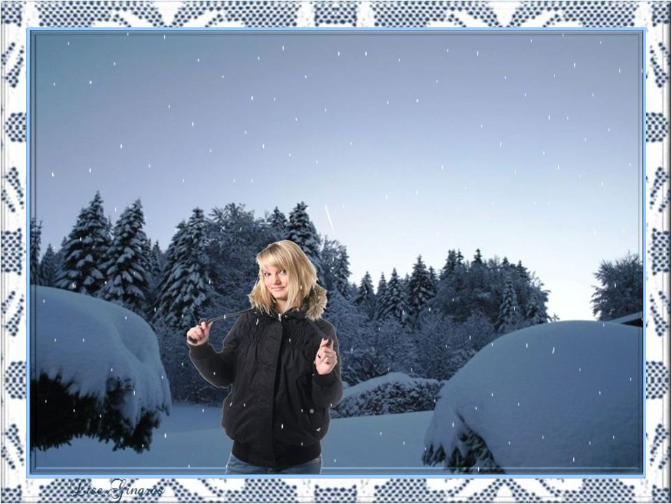 Comme cest magnifique: La neige!