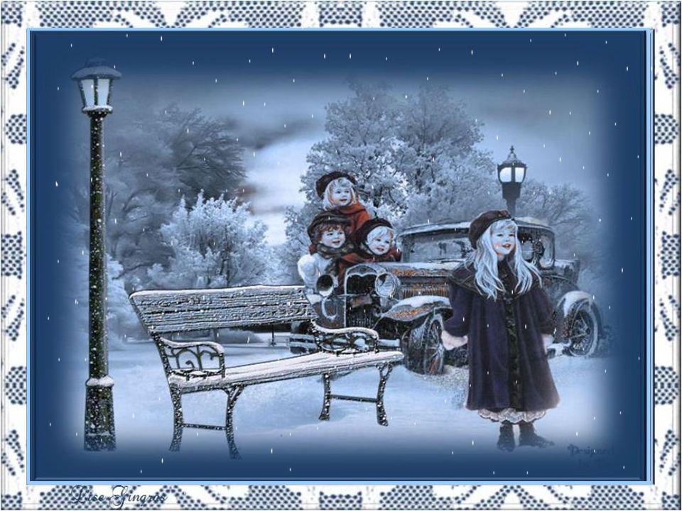 Aujourdhui, tout est fantastique; Les nuages pleurent des larmes dargent; La neige fait naître les cœurs denfant… Comme cest magnifique!