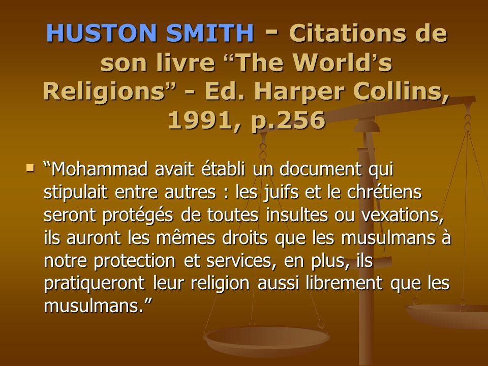 HUSTON HUSTON SMITH SMITH - Citations de son livre The The World s Religions Religions - Ed.
