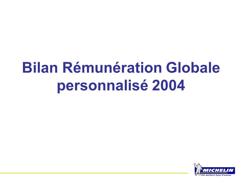 Bilan Rémunération Globale personnalisé 2004
