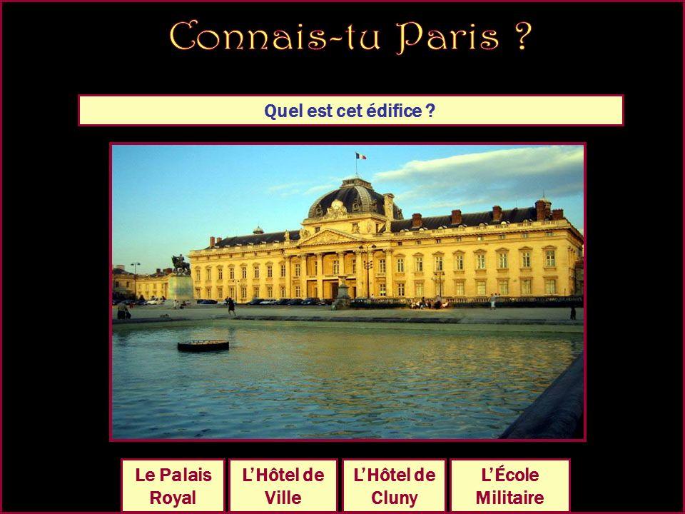 Quel est cet édifice LHôtel de Cluny Le Petit Palais Le Palais bourbon Le Palais Royal