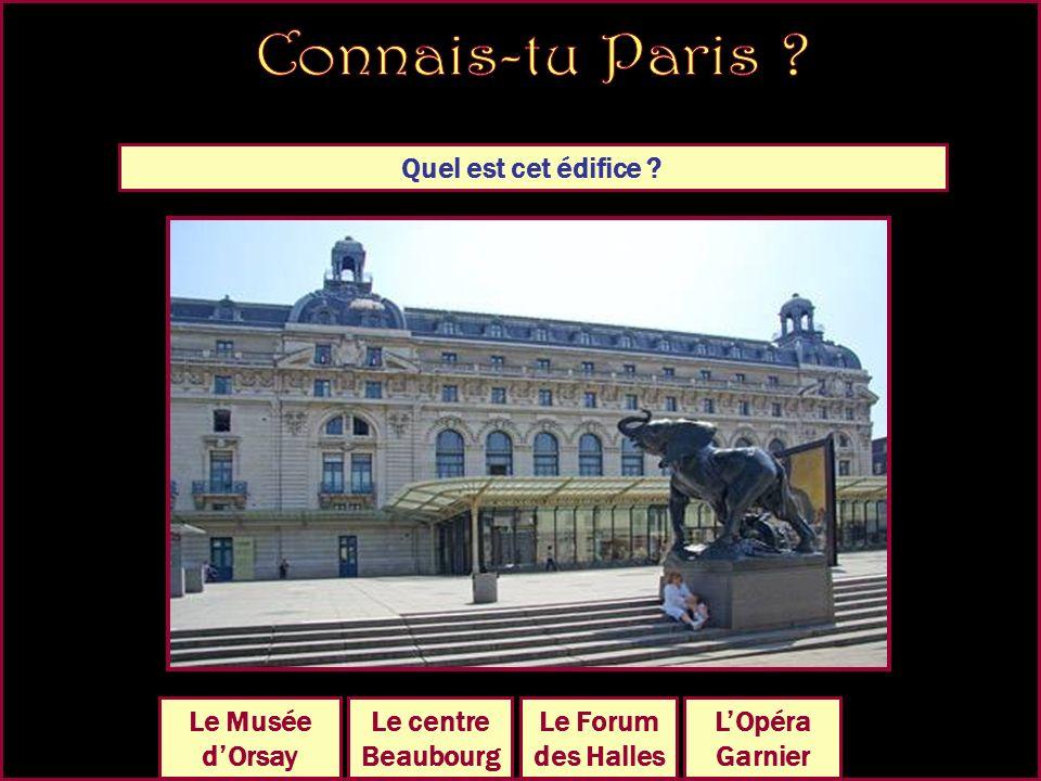 Quel est cet édifice LHôtel de Cluny LÉcole Militaire LHôtel de Ville Le Palais Royal