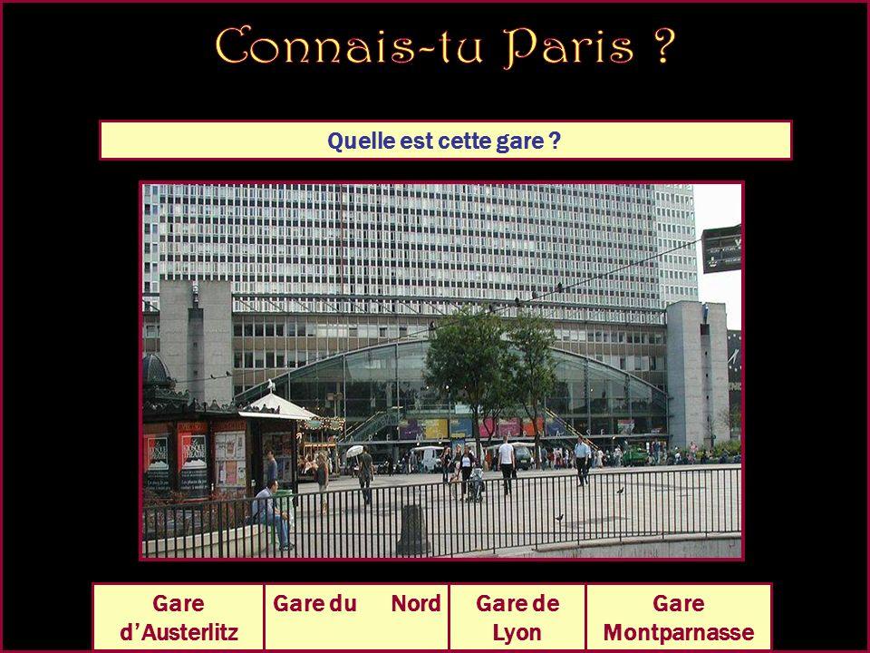 Quelle est cette gare Gare Montparnasse Gare dAusterlitz Gare de Lyon Gare du Nord