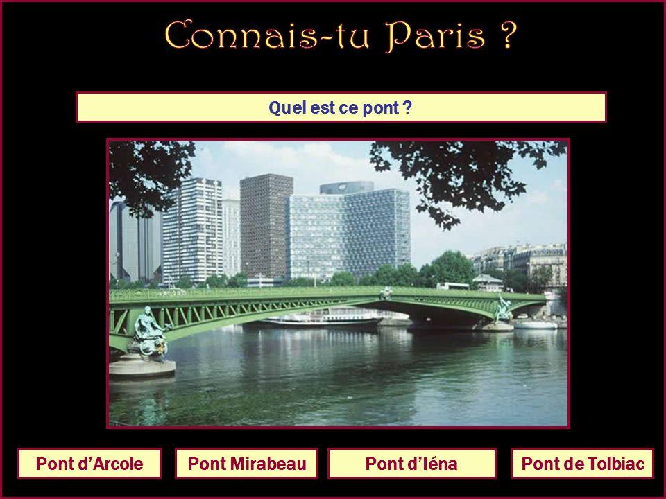 Quel est ce pont Pont Alexandre IIIPont de Grenelle Pont Charles de Gaulle Pont dAusterlitz