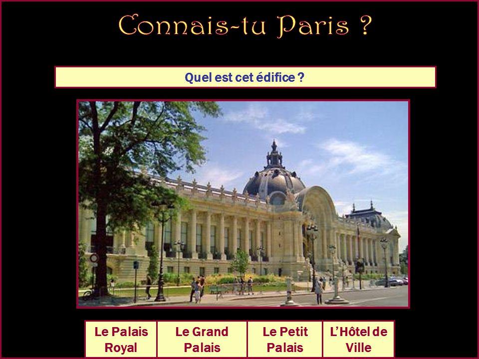 Quel est cet édifice Le Grand Palais La Conciergerie Le Petit Palais Hôtel des Invalides