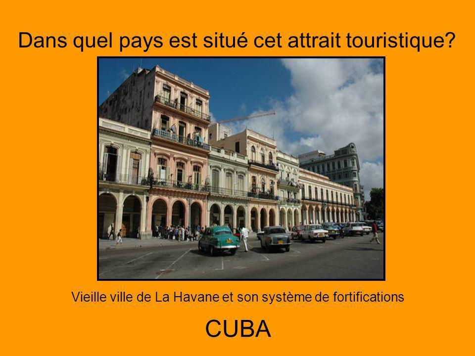 Dans quel pays est situé cet attrait touristique.