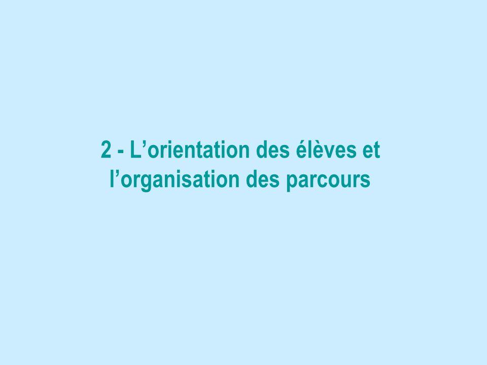 2 - Lorientation des élèves et lorganisation des parcours