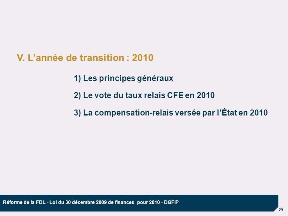 29 Réforme de la FDL - Loi du 30 décembre 2009 de finances pour 2010 - DGFiP V.