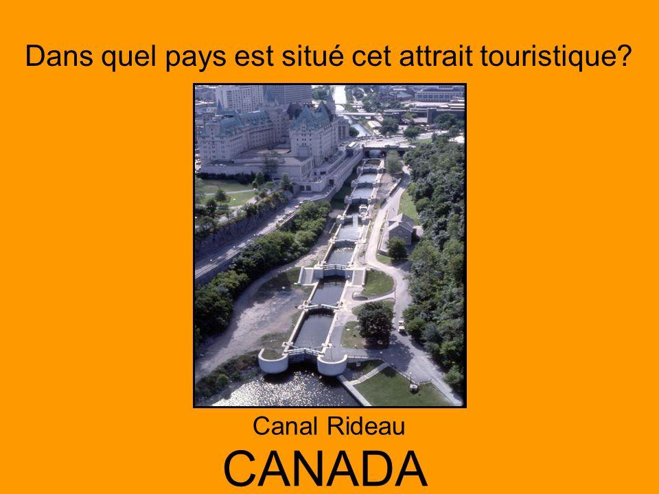 Dans quel pays est situé cet attrait touristique? CANADA Canal Rideau