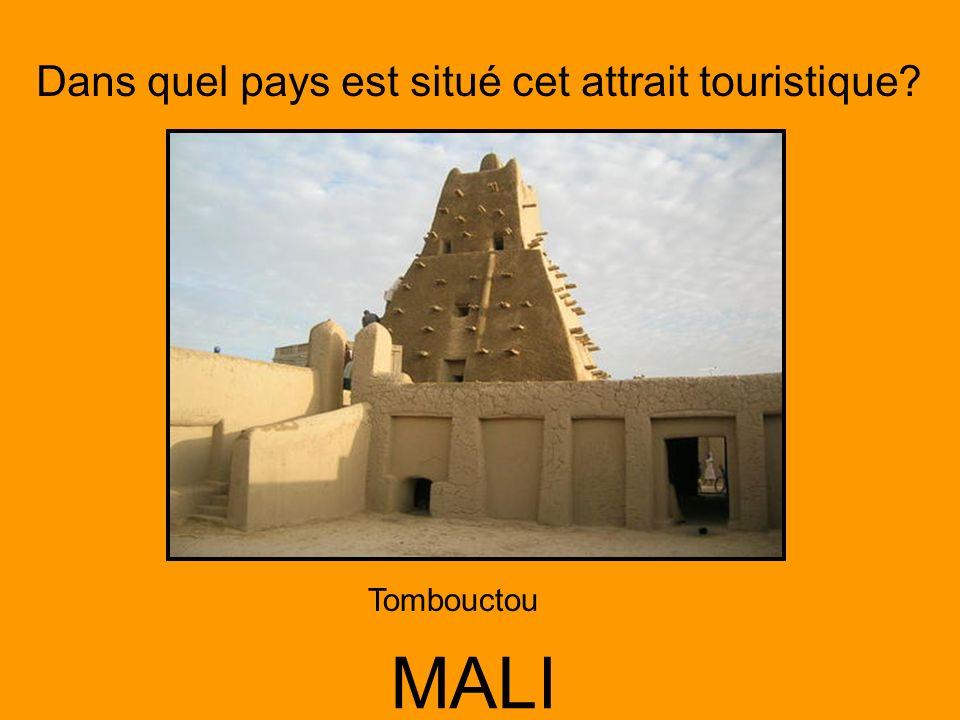 Dans quel pays est situé cet attrait touristique? MALI Tombouctou