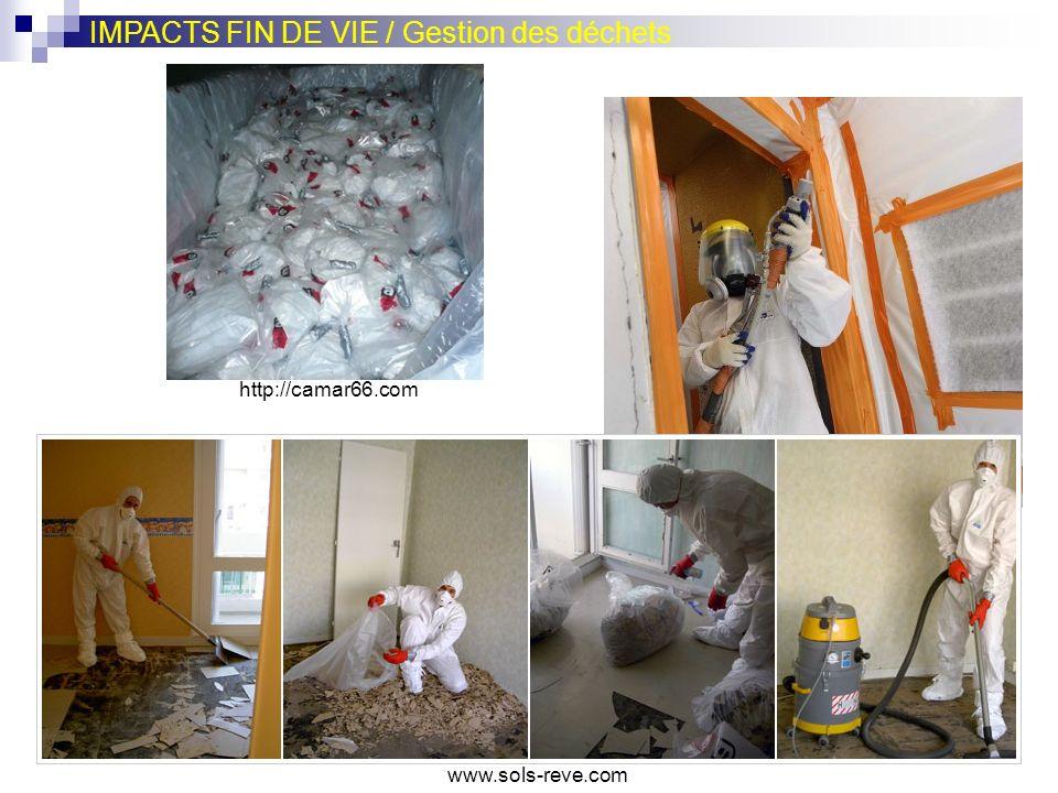 IMPACTS FIN DE VIE / Gestion des déchets www.lemoniteur.fr www.sols-reve.com http://camar66.com