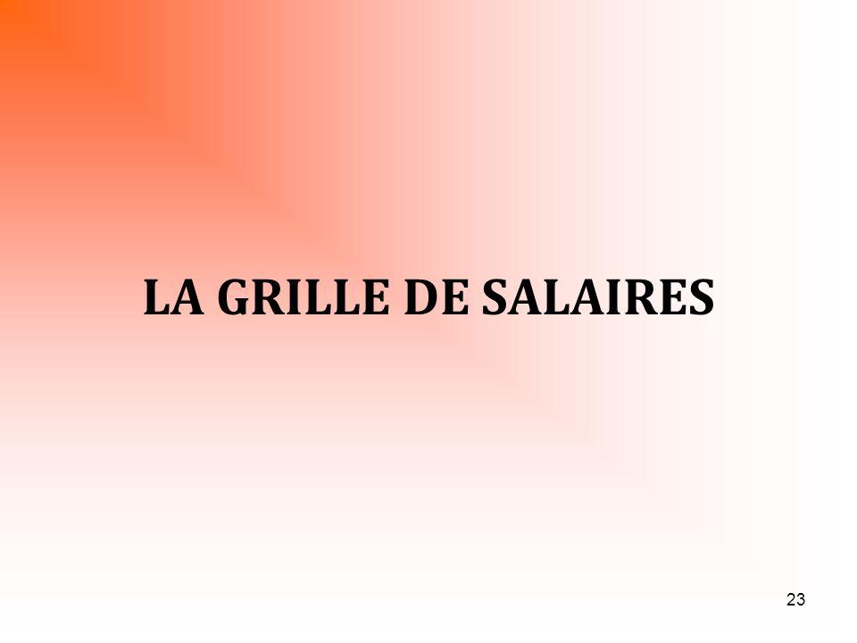 23 LA GRILLE DE SALAIRES