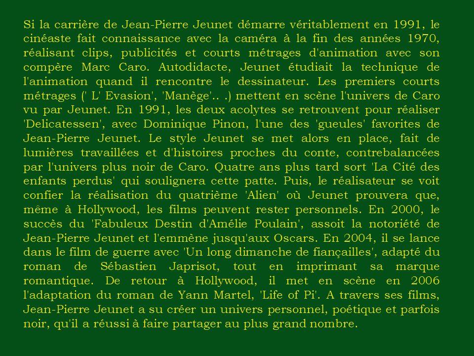 Lecture skimming du texte Biographie de Jean-Pierre Jeunet Exercice n ° 1