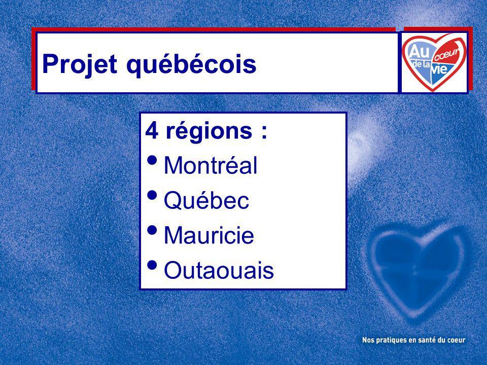 Projet québécois 4 régions : Montréal Québec Mauricie Outaouais
