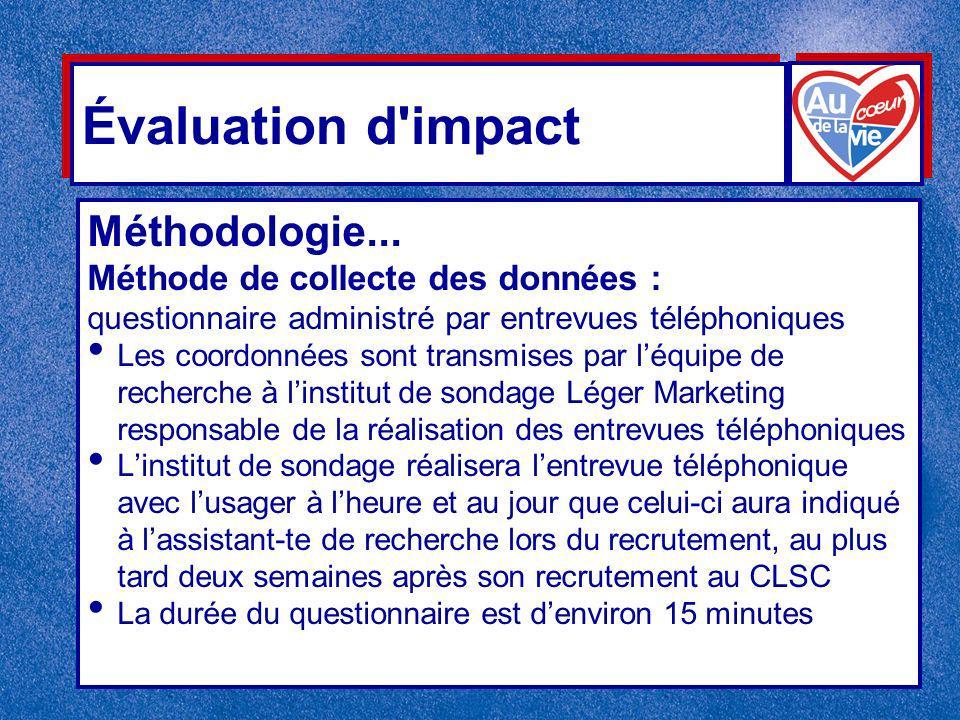 Évaluation d impact Méthodologie...