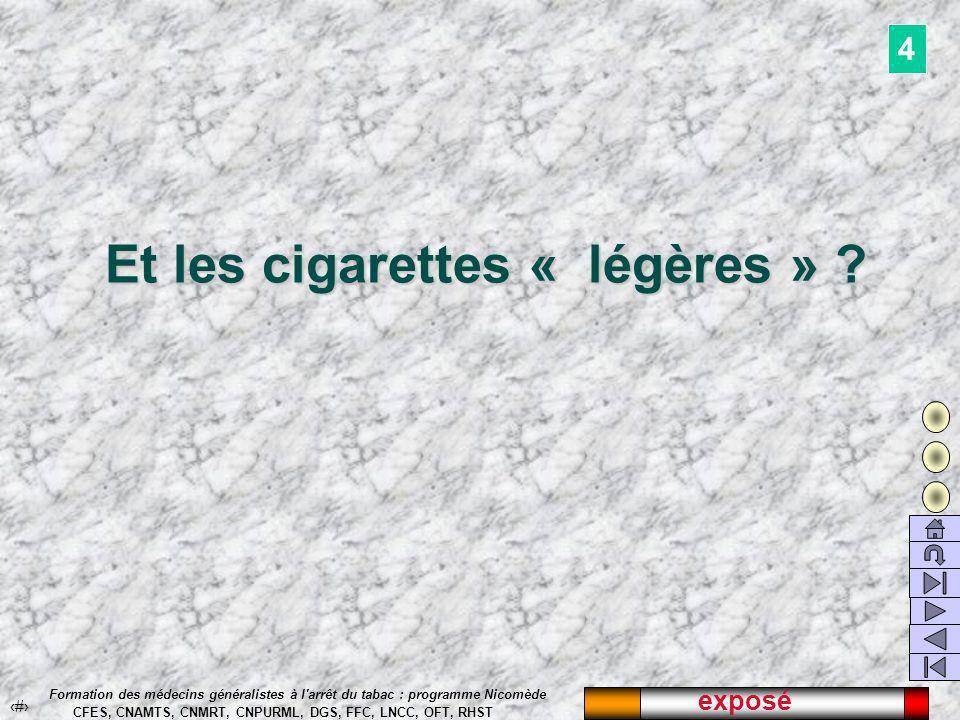 exposé 37 Formation des médecins généralistes à l arrêt du tabac : programme Nicomède CFES, CNAMTS, CNMRT, CNPURML, DGS, FFC, LNCC, OFT, RHST Et les cigarettes « légères » .