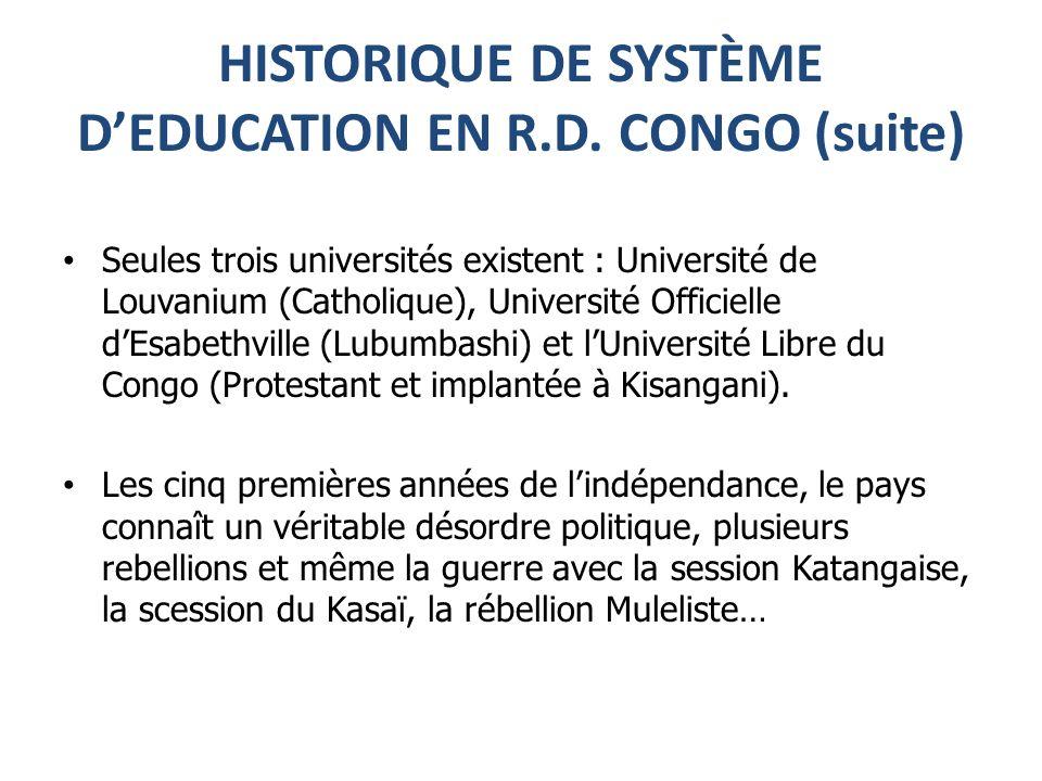 HISTORIQUE DE SYSTÈME DEDUCATION EN R.D.
