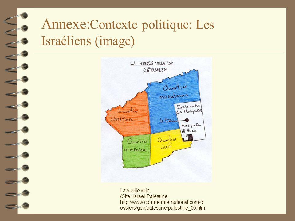 La vieille ville. (Site: Israël-Palestine. http://www.courrierinternational.com/d ossiers/geo/palestine/palestine_00.htm Annexe: Contexte politique: L