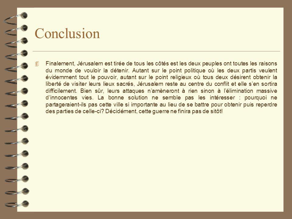 Bibliographie 4 MASSOULIÉ, François.Les conflits du Proche-Orient.