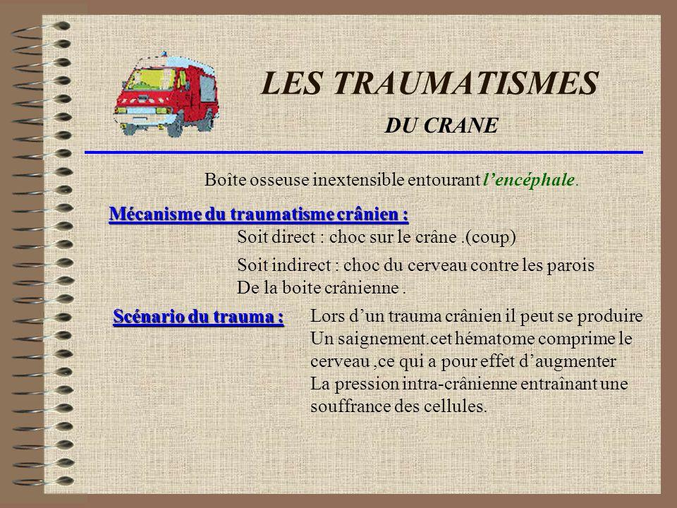 LES TRAUMATISMES DE LA COLONNE Maintien de la tête Prise latéro-latérale À genou sans bouger, rassurer la personne