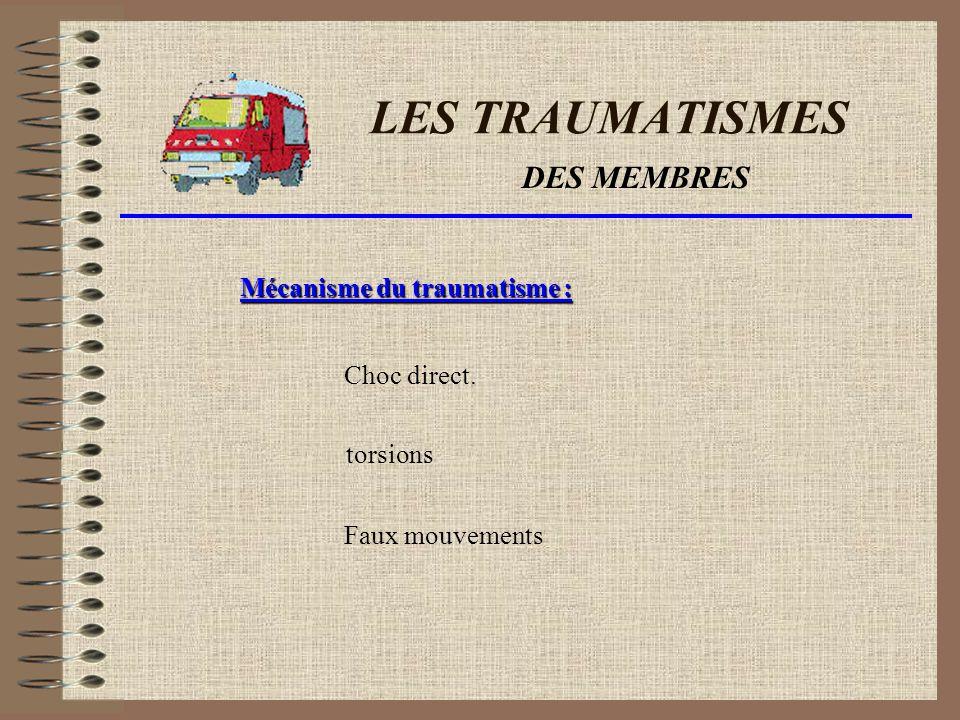 LES TRAUMATISMES DES MEMBRES Quil sagisse des jambes ou des bras,le traumatisme des membres Reste grave.