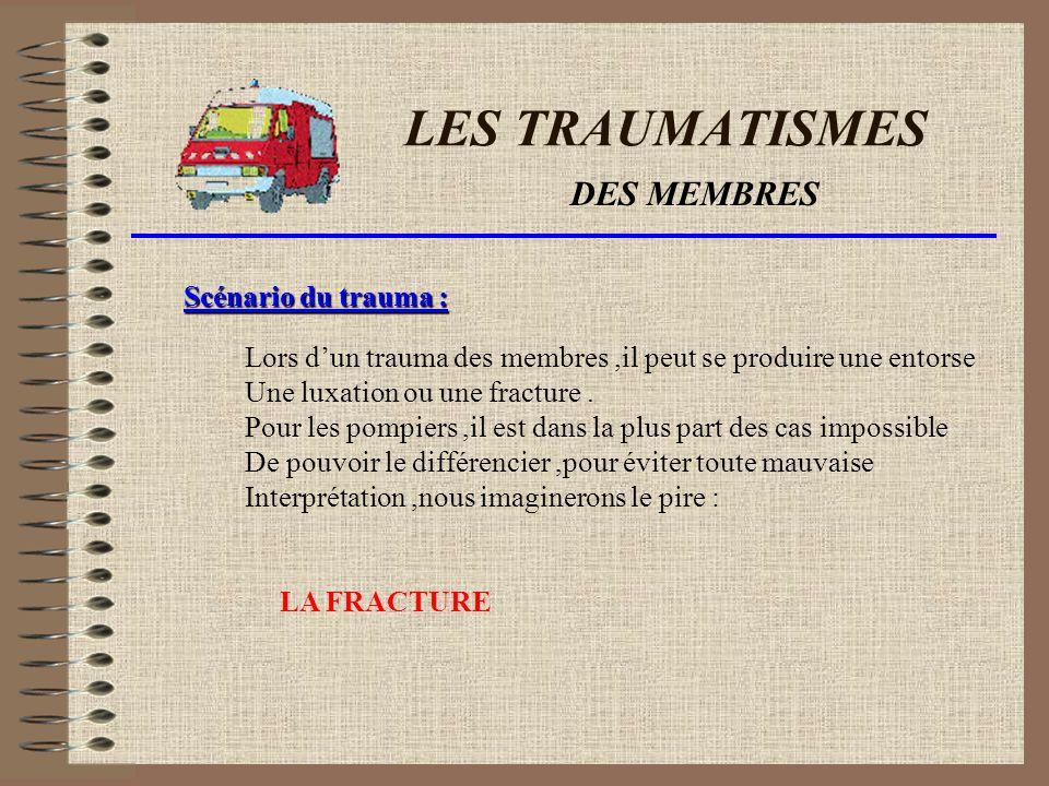 LES TRAUMATISMES DES MEMBRES Mécanisme du traumatisme : Choc direct. torsions Faux mouvements