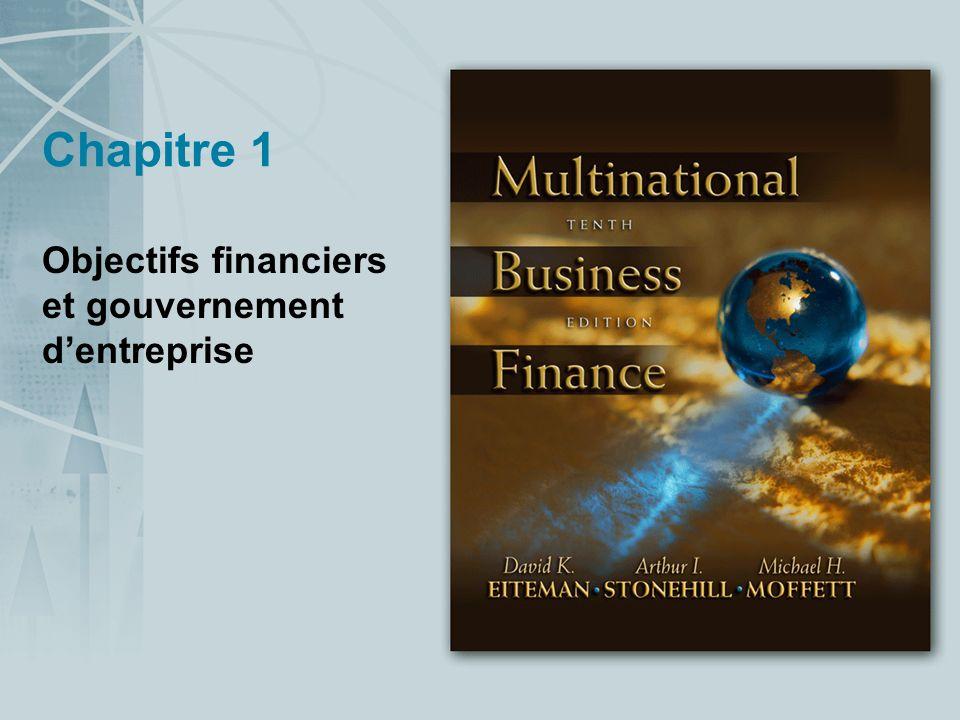 Chapitre 1 Objectifs financiers et gouvernement dentreprise
