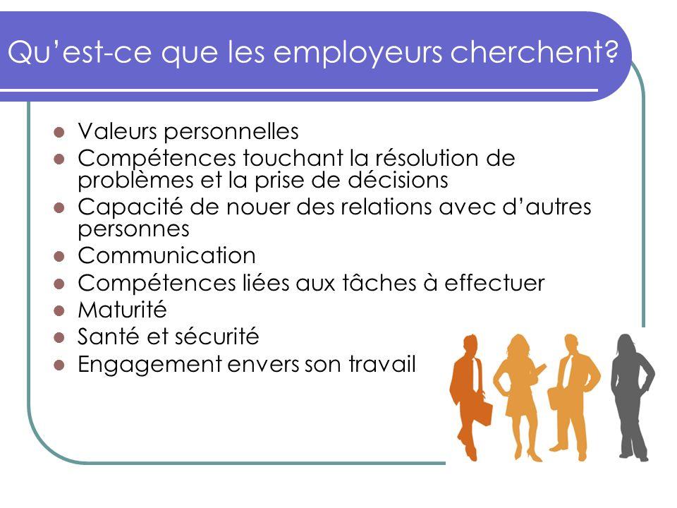 Quest-ce que les employeurs cherchent.