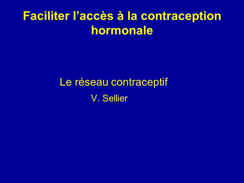 Faciliter laccès à la contraception hormonale Le réseau contraceptif V. Sellier