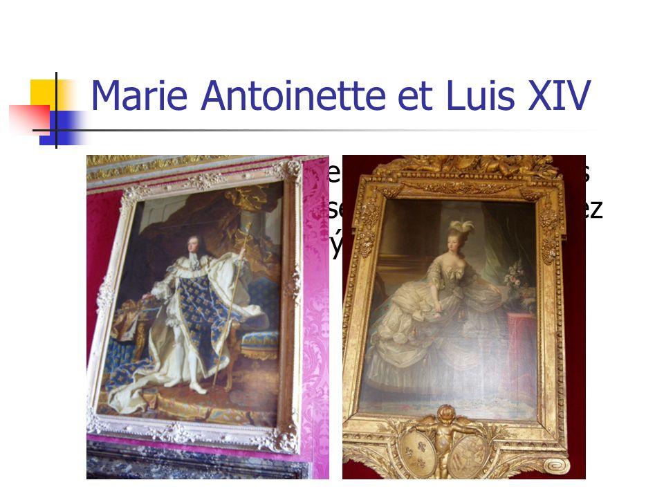 Marie Antoinette et Luis XIV Quelle belle paire… Aujourdhui vous ne devez pas poser à debout.