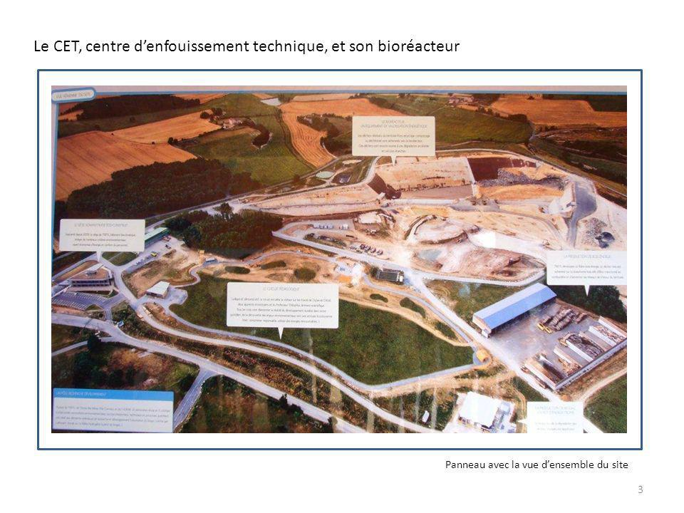 Le CET, centre denfouissement technique, et son bioréacteur Panneau avec la vue densemble du site 3
