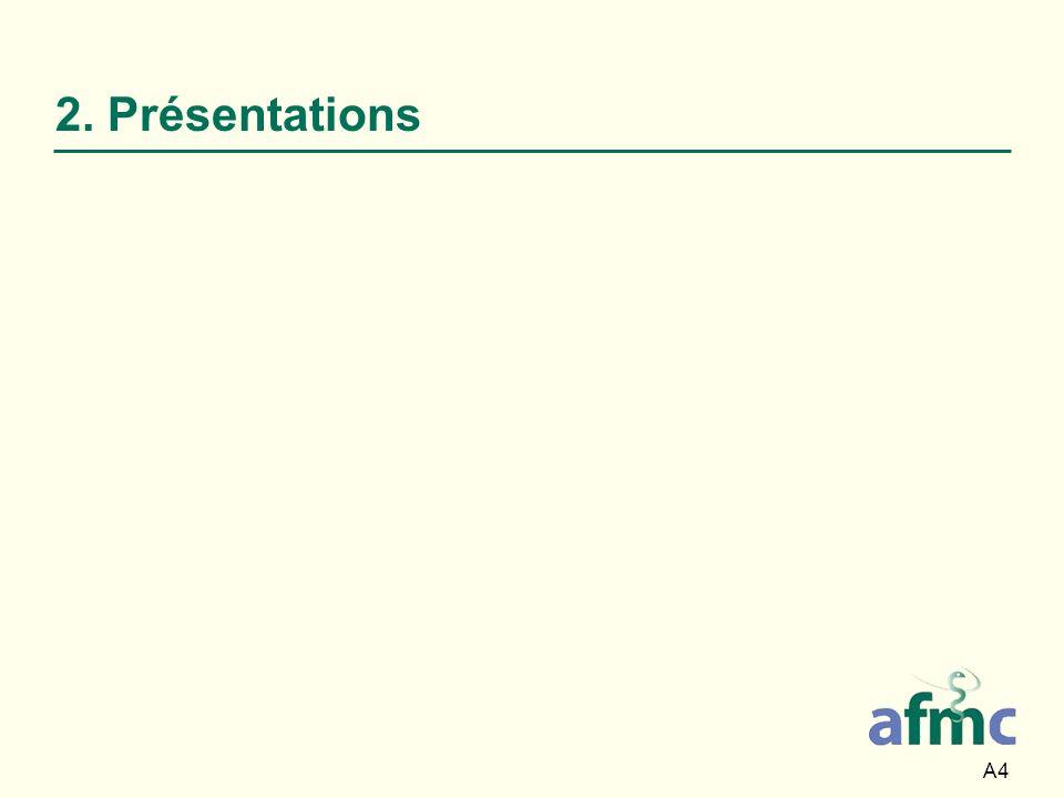 A4 2. Présentations