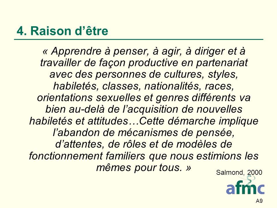 A30 4. En quoi consistent nos cultures? Comment nous affectent-elles?